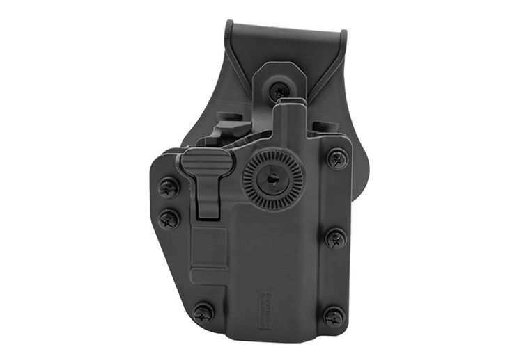 Holster RIGIDE CEINTURE ROTATIF ADAPT-X LEVEL 3 AMBIDEXTRE UNIVERSEL BLACK SWISS ARMS