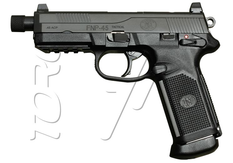 Pistolet FN HERSTAL FNX-45 TACTICAL BLACK BLOWBACK 25BBs GAZ VFC